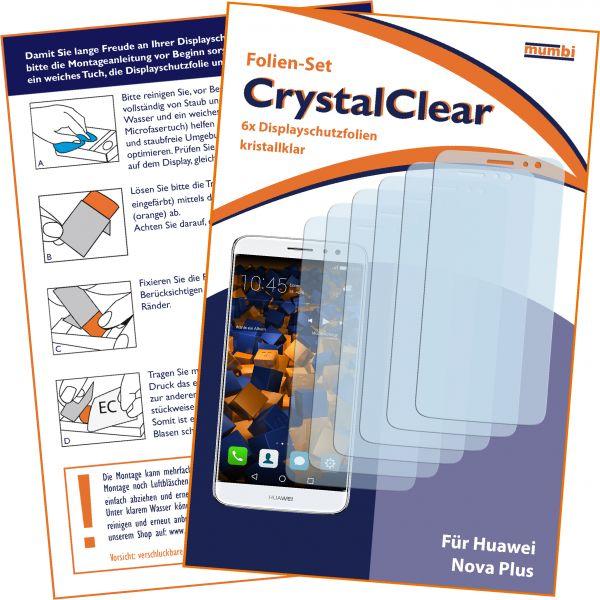 Displayschutzfolie 6 Stck. CrystalClear für Huawei Nova Plus