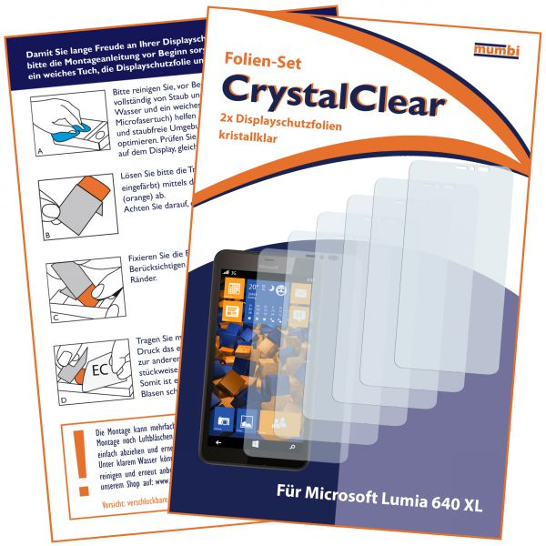 Displayschutzfolie 6 Stck. CrystalClear für Microsoft Lumia 640 XL