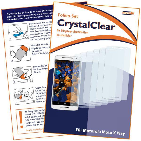 Displayschutzfolie 6 Stck. CrystalClear für Motorola Moto X Play