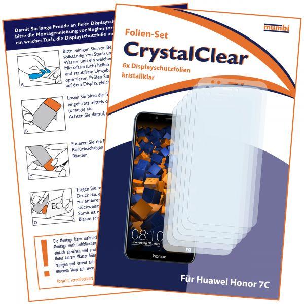 Displayschutzfolie 6 Stck. CrystalClear für Huawei Honor 7C