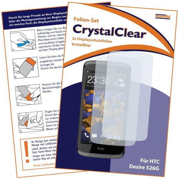 Displayschutzfolie 2 Stck. CrystalClear für HTC Desire 526G