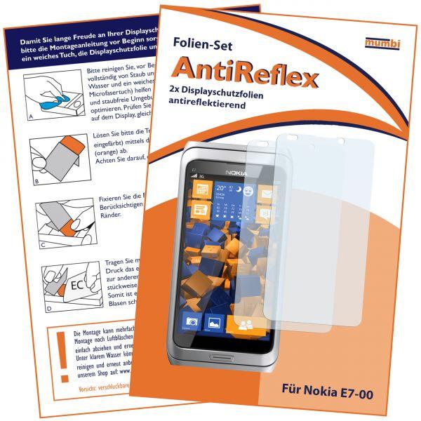 Displayschutzfolie 2 Stck. AntiReflex für Nokia E7-00