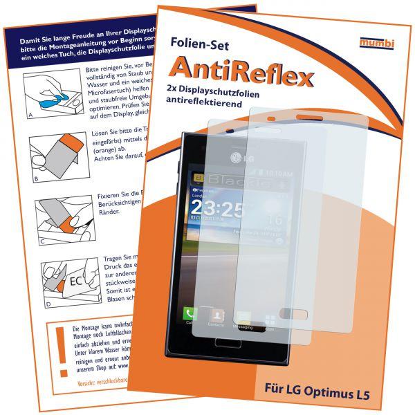 Displayschutzfolie 2 Stck. AntiReflex für LG E610 Optimus L5