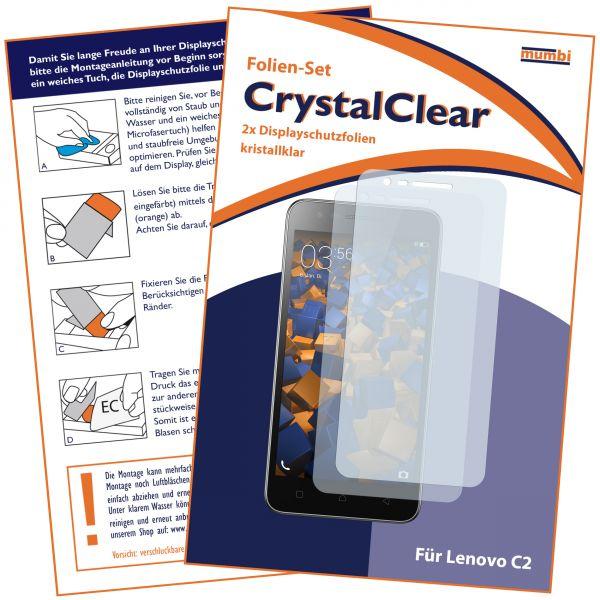 Displayschutzfolie 2 Stck. CrystalClear für Lenovo C2
