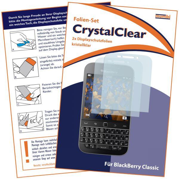 Displayschutzfolie 2 Stck. CrystalClear für Blackberry Classic