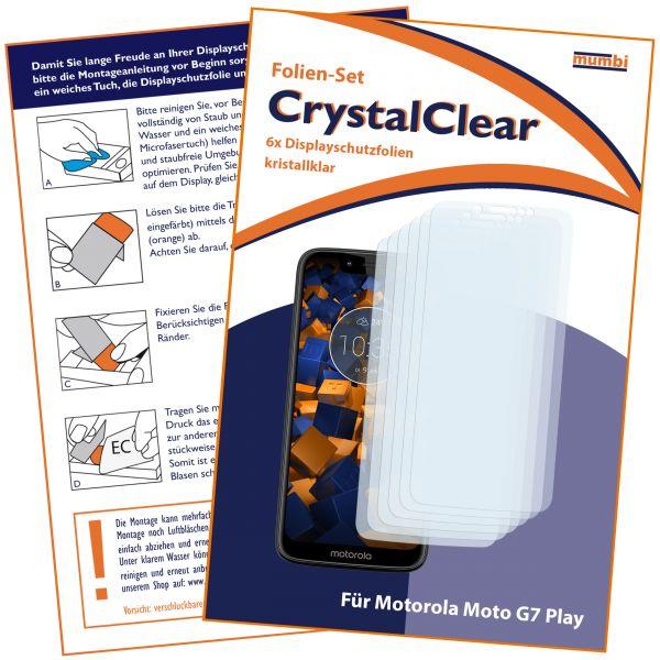 Displayschutzfolie 6 Stck. CrystalClear für Motorola Moto G7 Play