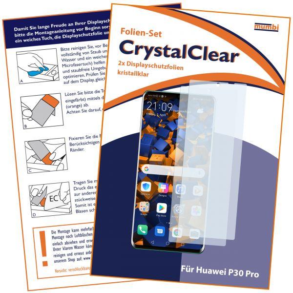 Displayschutzfolie 2 Stck. CrystalClear für Huawei P30 Pro