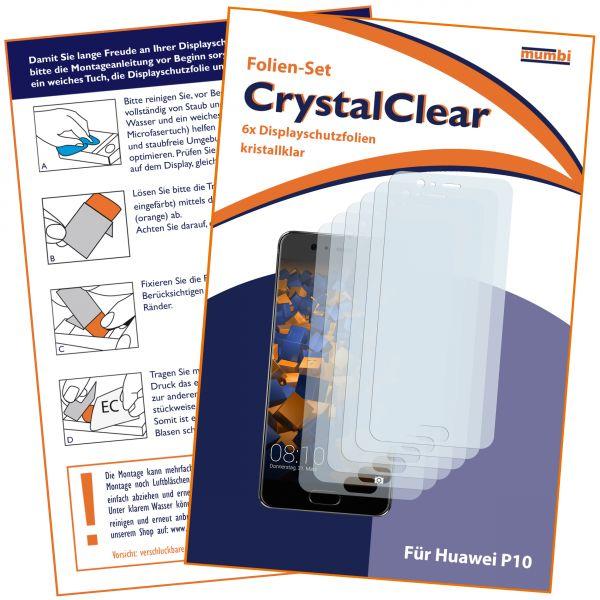 Displayschutzfolie 6 Stck. CrystalClear für Huawei P10