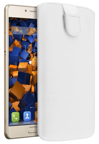 Leder Etui Tasche mit Ausziehlasche weiß für Lenovo P2