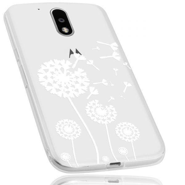 TPU Hülle transparent Motiv Pusteblume für Motorola Moto G4 / Moto G4 Plus