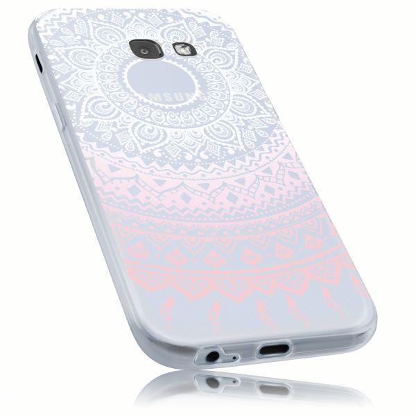 TPU Hülle Ultra Slim rosa transparent Motiv Mandala für Samsung Galaxy A5 (2017)