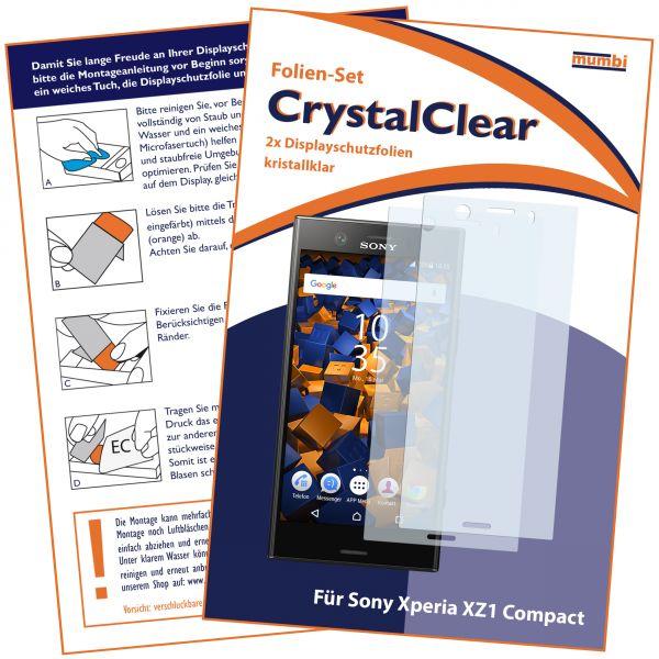 Displayschutzfolie 2 Stck. CrystalClear für Sony Xperia XZ1 Compact