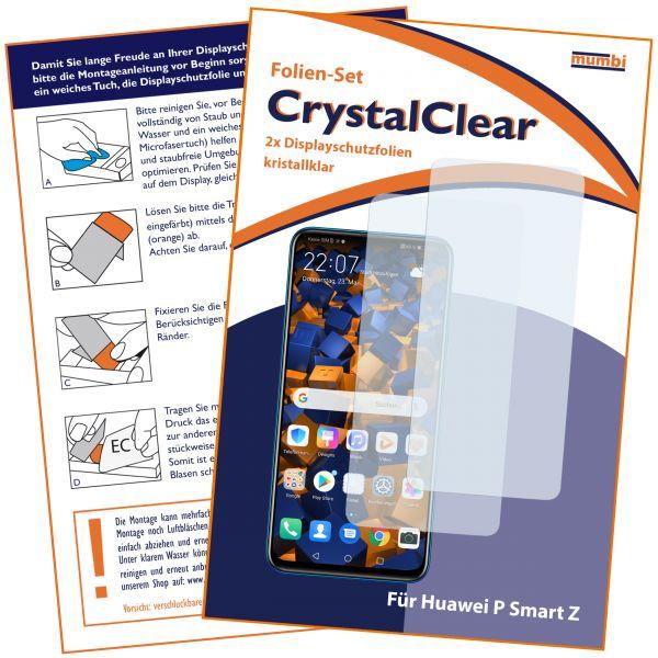 Displayschutzfolie 2 Stck. CrystalClear für Huawei P Smart Z