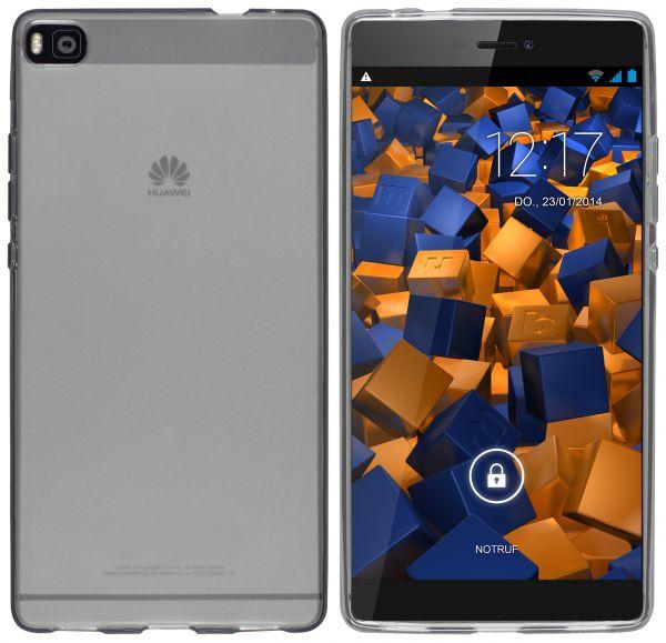 TPU Hülle schwarz transparent für Huawei P8
