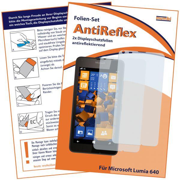 Displayschutzfolie 2 Stck. AntiReflex für Microsoft Lumia 640