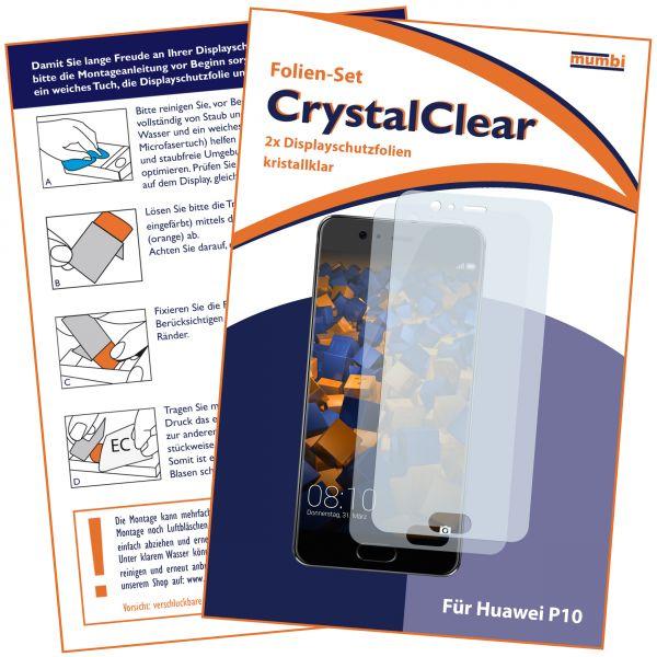 Displayschutzfolie 2 Stck. CrystalClear für Huawei P10