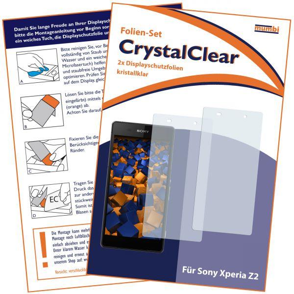 Displayschutzfolie 2 Stck. CrystalClear für Sony Xperia Z2