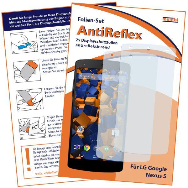 Displayschutzfolie 2 Stck. AntiReflex für LG Google Nexus 5