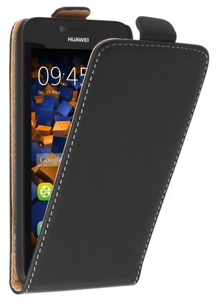 Flip Case Tasche schwarz für Huawei Y5