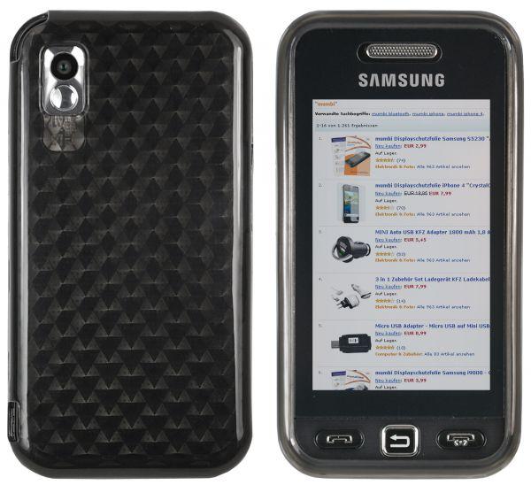 TPU Hülle transparent schwarz Facetteneffekt für Samsung Star