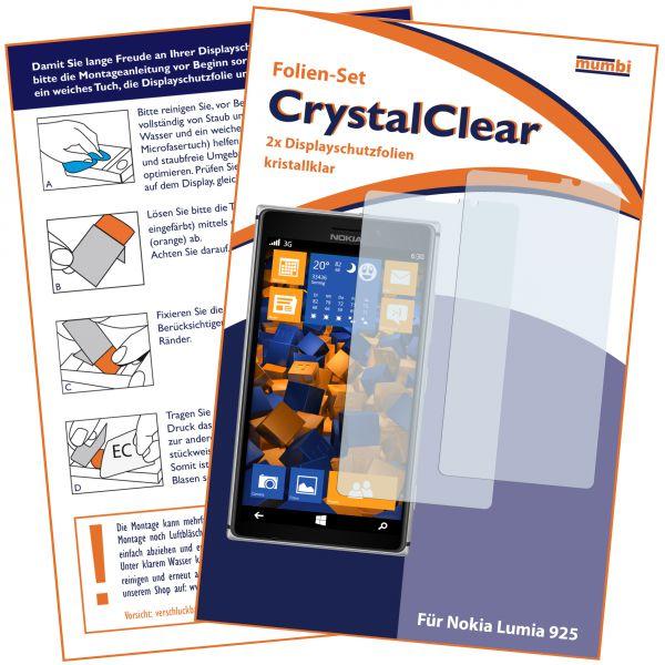 Displayschutzfolie 2 Stck. CrystalClear für Nokia Lumia 925