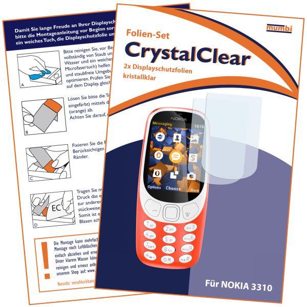 Displayschutzfolie 2 Stck. CrystalClear für Nokia 3310 (2017)