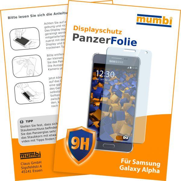 Panzerglasfolie Hartglas 9H für Samsung Galaxy Alpha