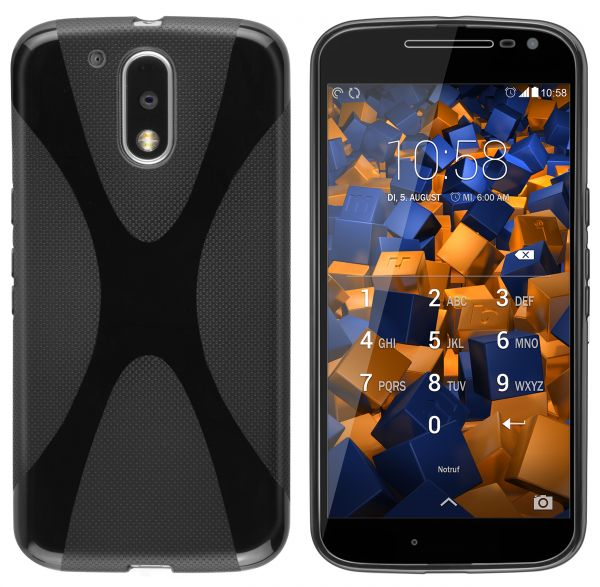 TPU Hülle X-Design schwarz für Motorola Moto G4 / G4 Plus