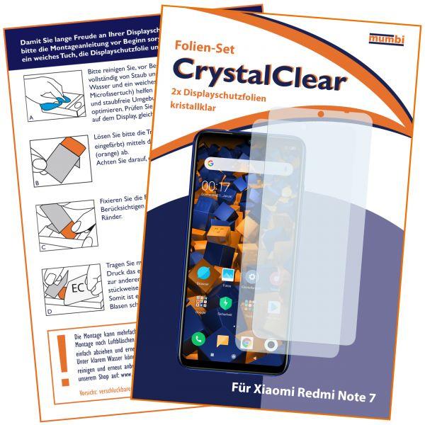 Displayschutzfolie 2 Stck. CrystalClear für Xiaomi Redmi Note 7