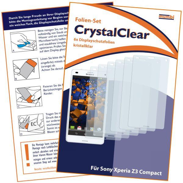 Displayschutzfolie 6 Stck. CrystalClear für Sony Xperia Z3 Compact