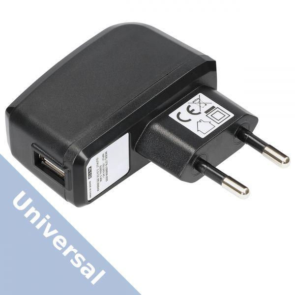 Universal Ladegerät Ladeadapter 2000 mA Steckernetzteil - USB A Buchse schwarz