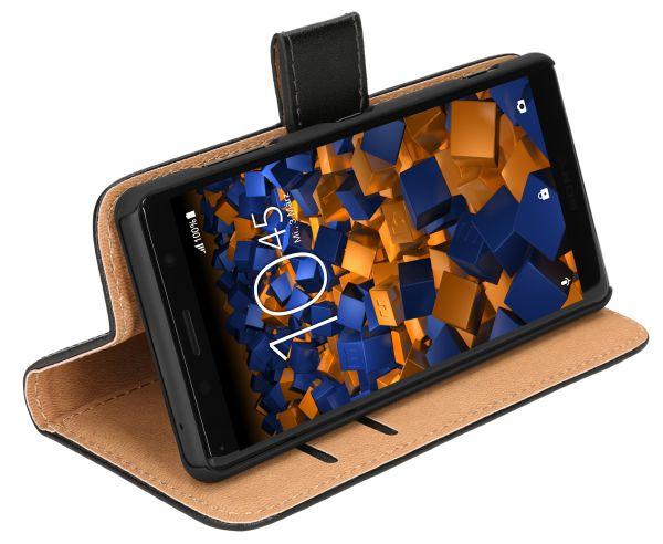 Bookstyle Tasche schwarz für Sony Xperia XZ2 Compact