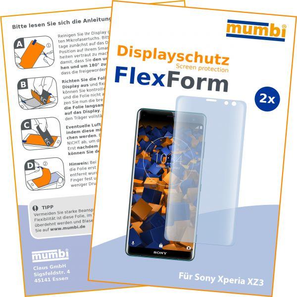 Displayschutzfolie 2 Stck. FlexForm für Sony Xperia XZ3