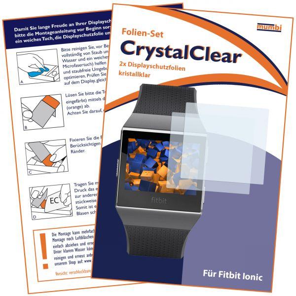Displayschutzfolie 2 Stck. CrystalClear für Fitbit Ionic Smartwatch