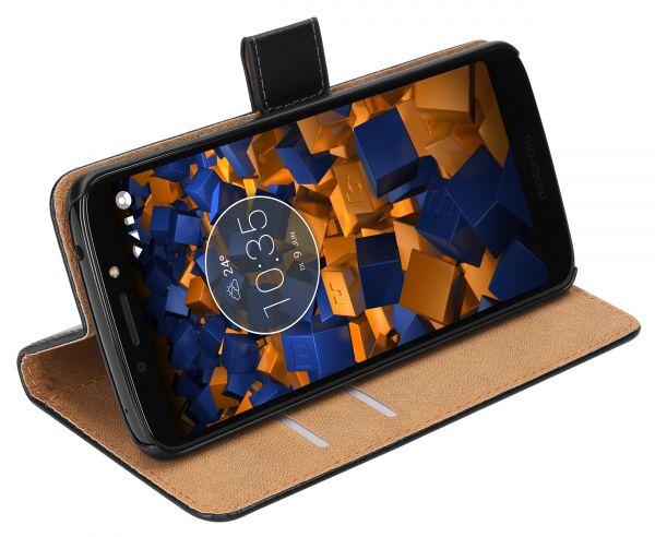 Bookstyle Tasche schwarz für Motorola Moto G6 Play