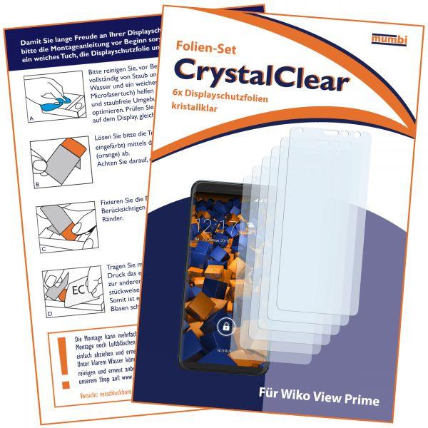 Displayschutzfolie 6 Stck. CrystalClear für Wiko View Prime