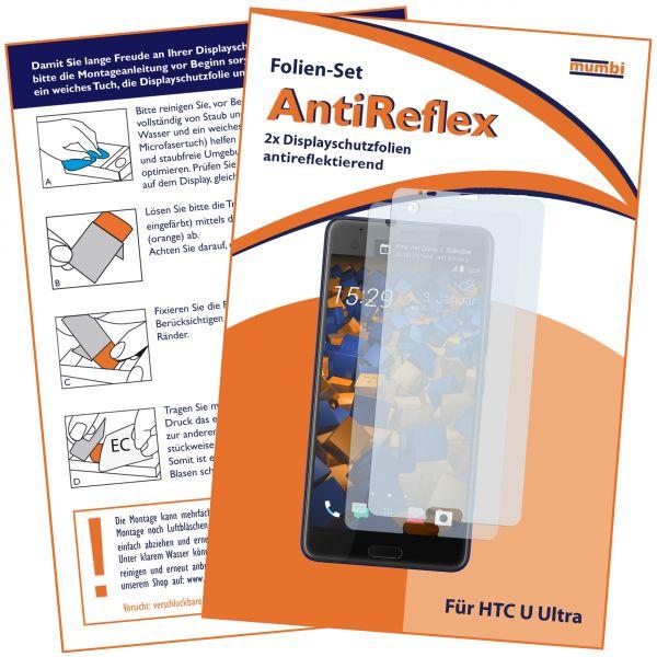 Displayschutzfolie 2 Stck. AntiReflex für HTC U Ultra