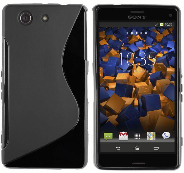 TPU Hülle S-Design schwarz für Sony Xperia Z3 Compact