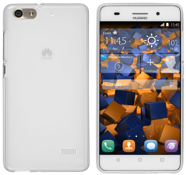 TPU Hülle transparent weiß für Huawei G Play Mini