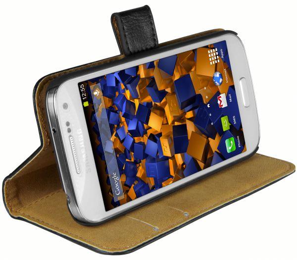 Bookstyle Tasche schwarz für Samsung Galaxy S4 Mini