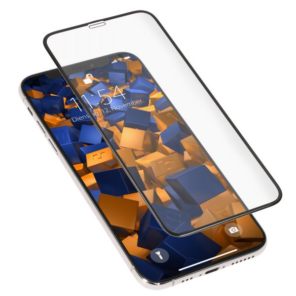 3D Panzerglasfolie Full Screen 6H transparent für Apple iPhone XS / X