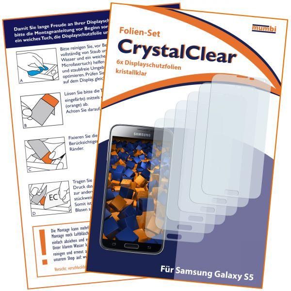 Displayschutzfolie 6 Stck. CrystalClear für Samsung Galaxy S5 / S5 Neo