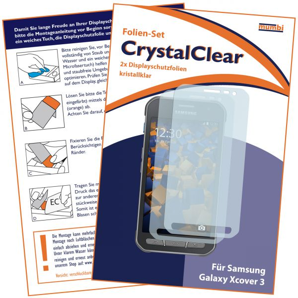 Displayschutzfolie 2 Stck. CrystalClear für Samsung Galaxy Xcover 3