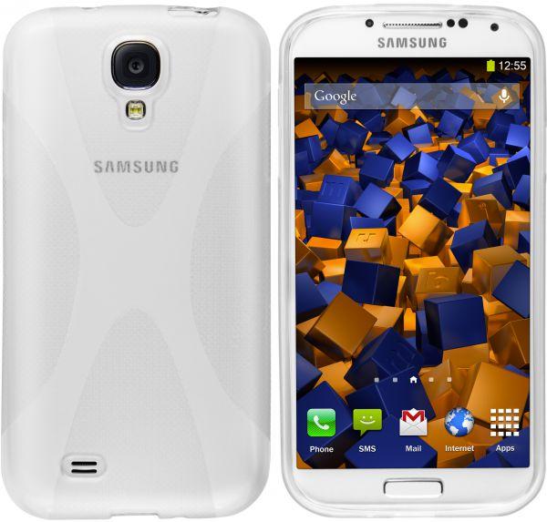 TPU Hülle X-Design weiß transparent für Samsung Galaxy S4