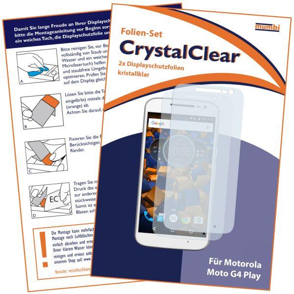 Displayschutzfolie 2 Stck. CrystalClear für Lenovo Moto G4 Play