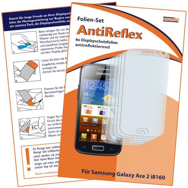 Displayschutzfolie 6 Stck. AntiReflex für Samsung Galaxy Ace 2