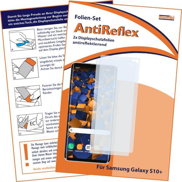 Displayschutzfolie 2 Stck. AntiReflex für Samsung Galaxy S10 Plus