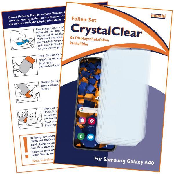 Displayschutzfolie 6 Stck. CrystalClear für Samsung Galaxy A40
