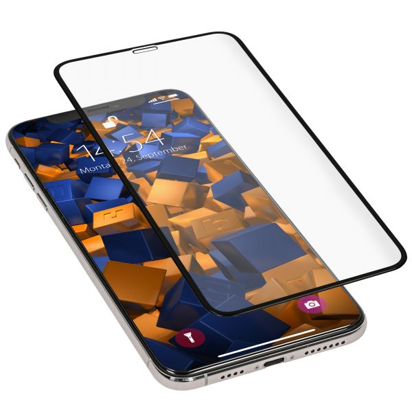 3D Panzerglasfolie Full Screen 6H transparent für Apple iPhone XS Max