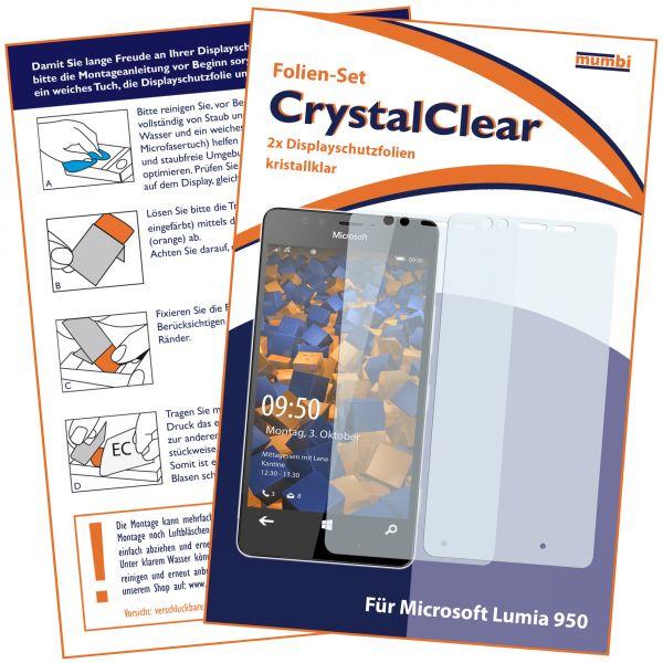 Displayschutzfolie 2 Stck. CrystalClear für Microsoft Lumia 950